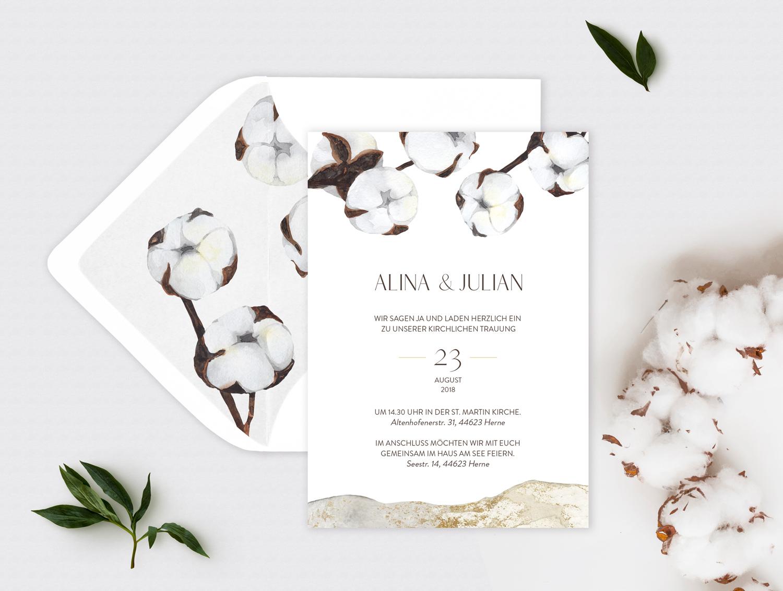 Hochzeitseinladung Cotton
