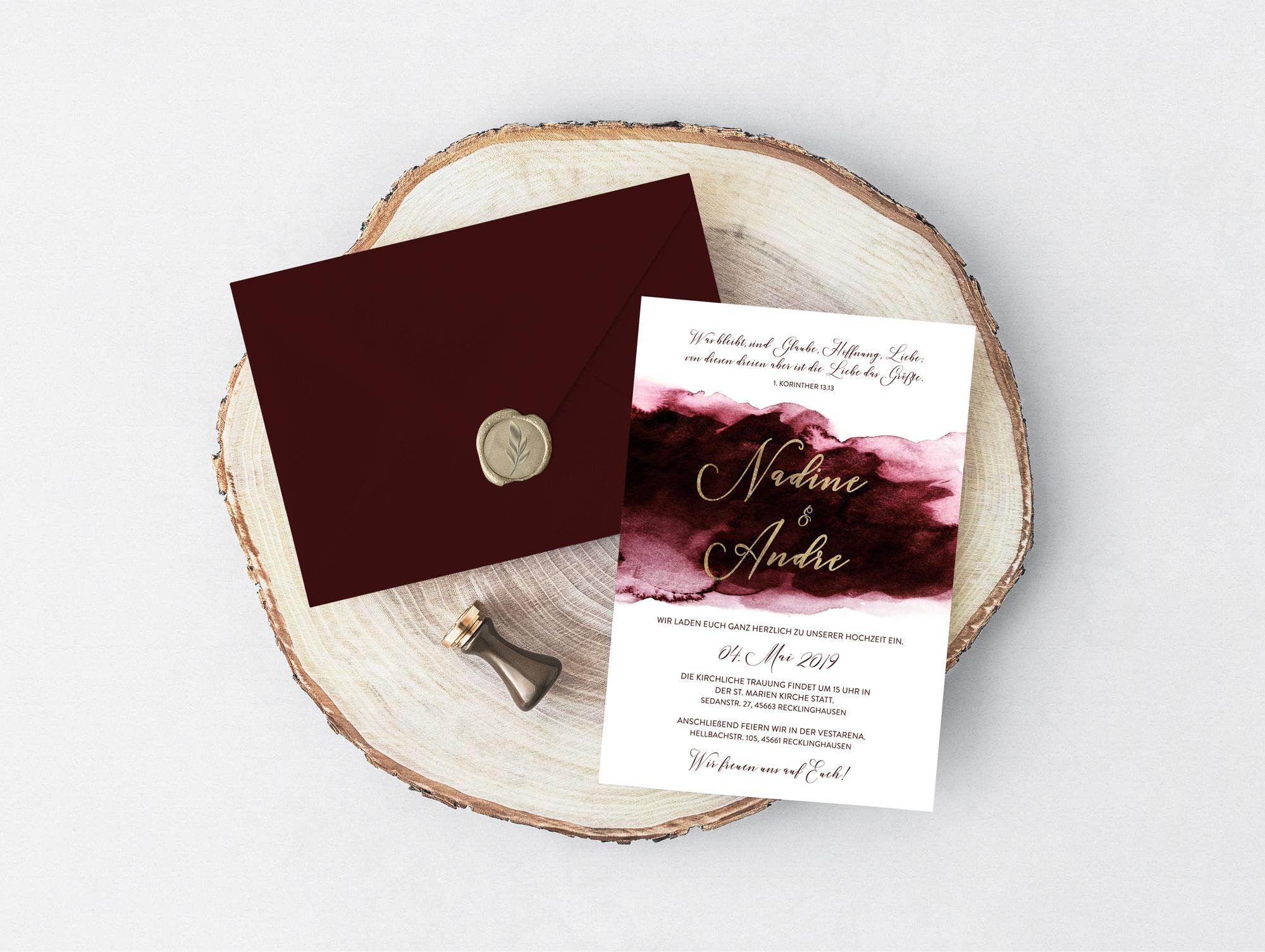 Hochzeitseinladung Velvet