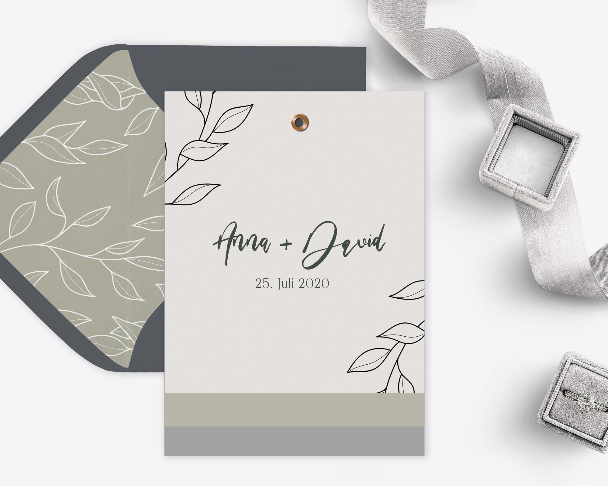 Hochzeitseinladung French Gray