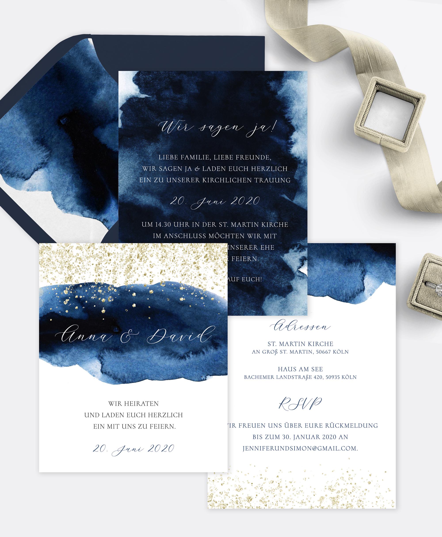 Hochzeitseinladung GoldenNights